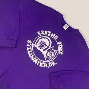 Gildan Heavy Blend American Vintage Purple Sweatshirt Jumper Eskimo Joe Men's XL