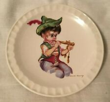 Brownie Downing Ceramics Small Plate by Weatherby Hanley England pic Boy Flute