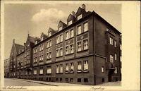 Augsburg Bayern alte Ansichtskarte ~1930 Straßenpartie am St. Antonius Haus
