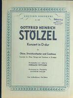 Stölzel : Konzert in D-dur - Oboe Streichorchester und Continuo - Klavierauszug