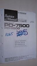 Pioneer pd-7500 6500 Service Manual Original Reparatur Buch Stereo CD Player