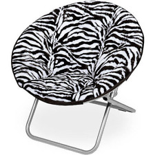 Soft and Cuddly Faux Fur Saucer Chair,
