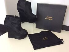 TOPSHOP ASHISH Shoes Pony Shoes Wedge Heels Uk Size 5 38 Very Rare  Black
