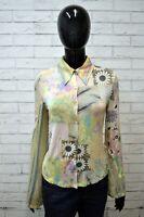 Camicia Donna JUST CAVALLI Taglia S Maglia Manica Lunga Shirt Woman Floreale Top
