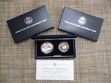 1991-1995 U.S Mint World War Ii 50Th Anniversary Two Coin Proof Set