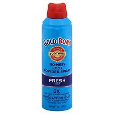 New Gold Bond No Mess Foot Powder Spray Fresh Scent 7 OZ.