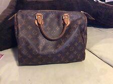 Authentic Louis Vuitton speedy 30 monogram  hand  bag tote purse satchel key