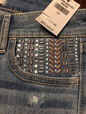 HOLLISTER BY ABERCROMBIE WOMEN SUPER SKINNY EMBELLISHED JEANS 5 R W 27 NEW $69.5