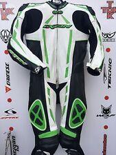 IXON Pulsar Kawasaki one Piece race leathers with hump uk 44 euro 54