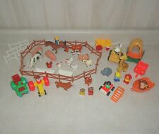 Vintage Fisher Price Little People and other Farm, Jungle, Zoo Animals Vehicles