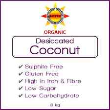 Coconut Desiccated Organic 3kg