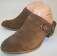 American Eagle Outfitters Womens Shoes Mules US 8 Brown Suede Western 26