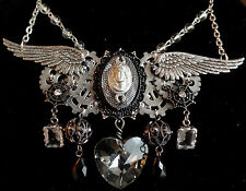 OOAK Steampunk Gothic Angel Necklace (Handcrafted Jewelry)