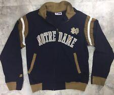 Notre Dame Fighting Irish Full Zip Navy Gold Fleece Men Small Russel Athletic A5