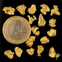 3 Gramm echte XXL Gold-Nuggets aus Alaska 5-12 mm 3-6 Stück 20-23kt Barren Münze