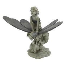 Fairy Child's Butterfly Ride Garden Sculpture Home Statue