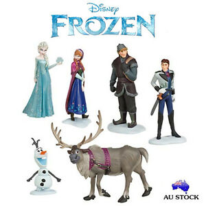6pcs Frozen Elsa Anna Olaf Doll Loose Action Figure Figurines Cake Topper Toy