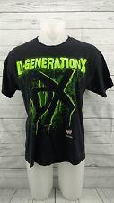 DX D Generation X WWE Black Shirt 2007 Men's Large L Slim Fit ~ Hybrid HHH  HBK