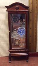 dollhouse miniatures 1:12 Full Curio Cabinet With 6 Items