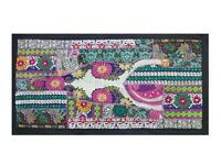 INDIAN TAPESTRY THROW HANDMADE TABLE RUNNER  WALL HANGING HOME DECOR TF11