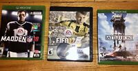 Xbox One Games Bundle - Madden 18, Star Wars Battlefront & FIFA 17.  USED.