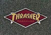Thrasher Diamond Logo Skateboard sticker 4in burgundy si