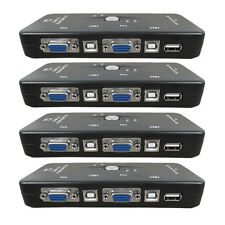 4fach KVM Switch Umschalter USB + VGA(VGA, Tastatur, Maus, Monito KT
