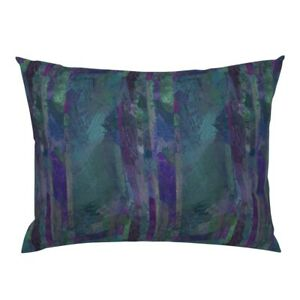 Purple Blue Cobalt Navy Teal Abstract Rock Geology Pillow Sham by Roostery