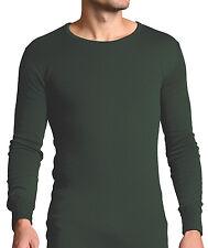 Forestman - Mens Thin Soft Warm Green Cotton Thermal Underwear Vest Top Shirt