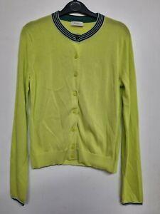 Paul Smith Lime Green Cardigan Size Medium Uk 12 Cotton