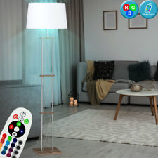 Led Tela Techo RGB Control Remoto Madera Diseño Oficina Lámpara Pie Regulable