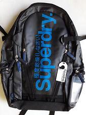 SUPERDRY CLASSIC TARP TARPAULIN backpack - New - Black Blue - Japan Exclusive