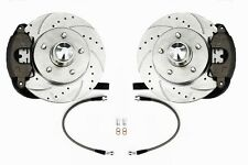 63-66 67-72 Chevy C10 Truck 5-Lug Front Disc Brake Kit  Drop Spindles D/S Rotors