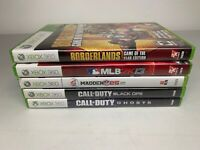 Xbox 360 5 Game Lot - Call Of Duty Borderlands MLB Madden