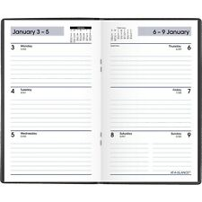 At A Glance Dayminder Weekly Planner 3 12 X 6 Black 2022 Sk4800