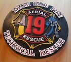 Fire Department Miami Dade Aerial 19 routed wood patch plaque sign Custom