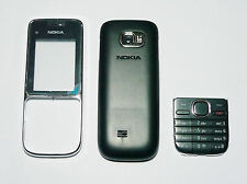 black Housing Cover Facia Fascia Faceplate case for Nokia C2-01 black -005221