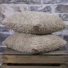 Stockholm Faux Fur Stone Cushion Cover