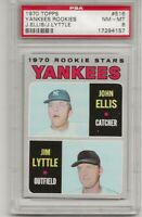 1970 TOPPS #516 YANKEES ROOKIE STARS, PSA 8 NM-MT, ELLIS / LYTTLE, L@@K !