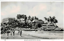 Rppc,Mount Lavinia,Ceylon,Mount Lavinia Hotel and Beach,c.1940-50s