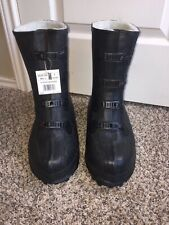 """LaCrosse Black 12"""" Traction Studded Outsole 4 Buckle Latex Over Boot Waterproof"""