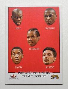 2000-01 Fleer #291 Tyrone Hill Theo Ratliff Allen Iverson Eric Snow Toni Kukoc