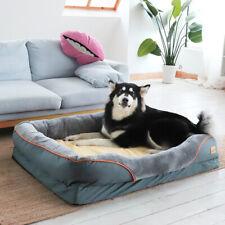 Deluxe Pet Dog Bed Large Xl Orthopedic Plush Bolster Sofa Waterproof Bottom &Top
