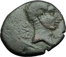 AUGUSTUS 27BC Philippi Macedonia PRIESTS Founding City Oxen Roman Coin i59294