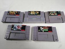 SNES Lot of 5 - Super Mario ALL STARS Major League Baseball Shaq Fu NHL