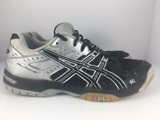 ASICS Gel Rocket B207N Men US 7.5 Black + Silver Athletic Volleyball Shoes