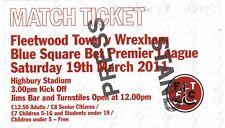 Ticket - Fleetwood Town v Wrexham 19.03.11