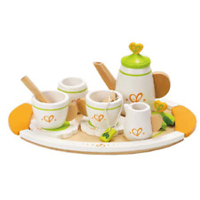 Hape Wooden Tea Set for 2 Teapot Party Pretend Kitchen Play Children Kids Toy