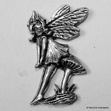 Toadstool Hada Peltre Broche Pin-británica Artisan firmado Insignia