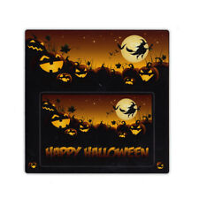 Magnetic Picture Frame - Happy Halloween (Bats, Pumpkins, Witch) - Refrigerator